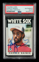 Harold Baines Signed 1986 Topps #755 (PSA Encapsulated) at PristineAuction.com