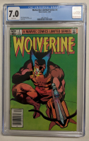 """1982 """"Wolverine"""" Limited Series #4 Marvel Comic Book (CGC 7.0) at PristineAuction.com"""