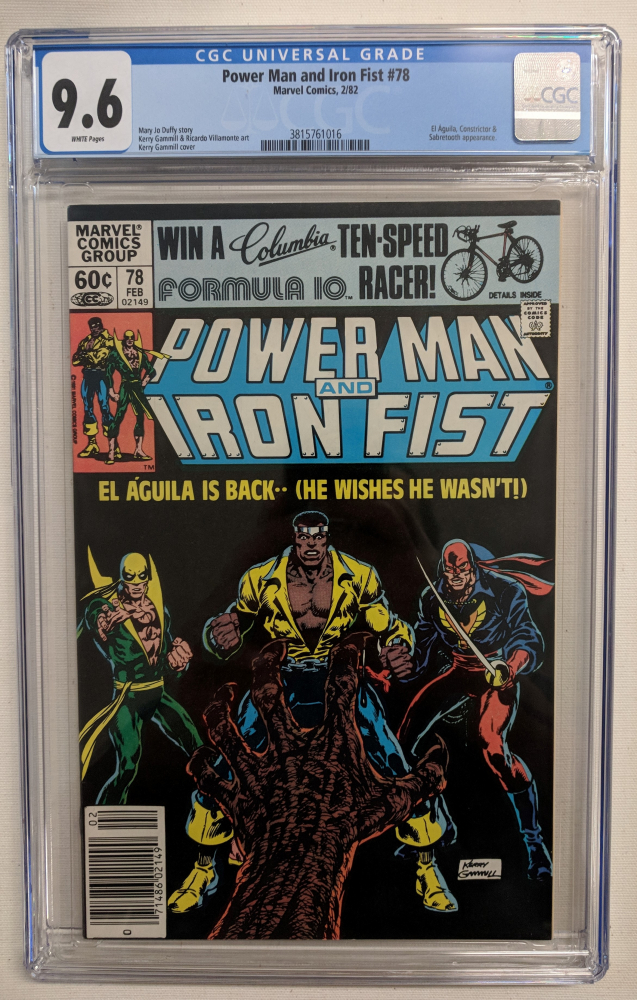 """1982 """"Power Man and Iron Fist"""" Issue #78 Marvel Comic Book (CGC 9.6) at PristineAuction.com"""