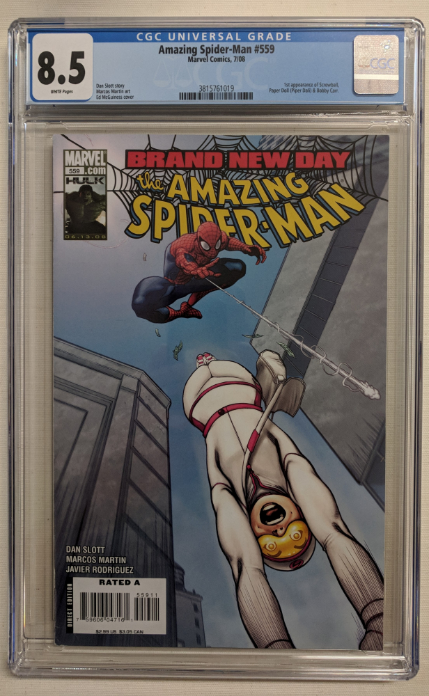 """2008 """"The Amazing Spider-Man"""" Issue #559 Marvel Comic Book (CGC 8.5) at PristineAuction.com"""