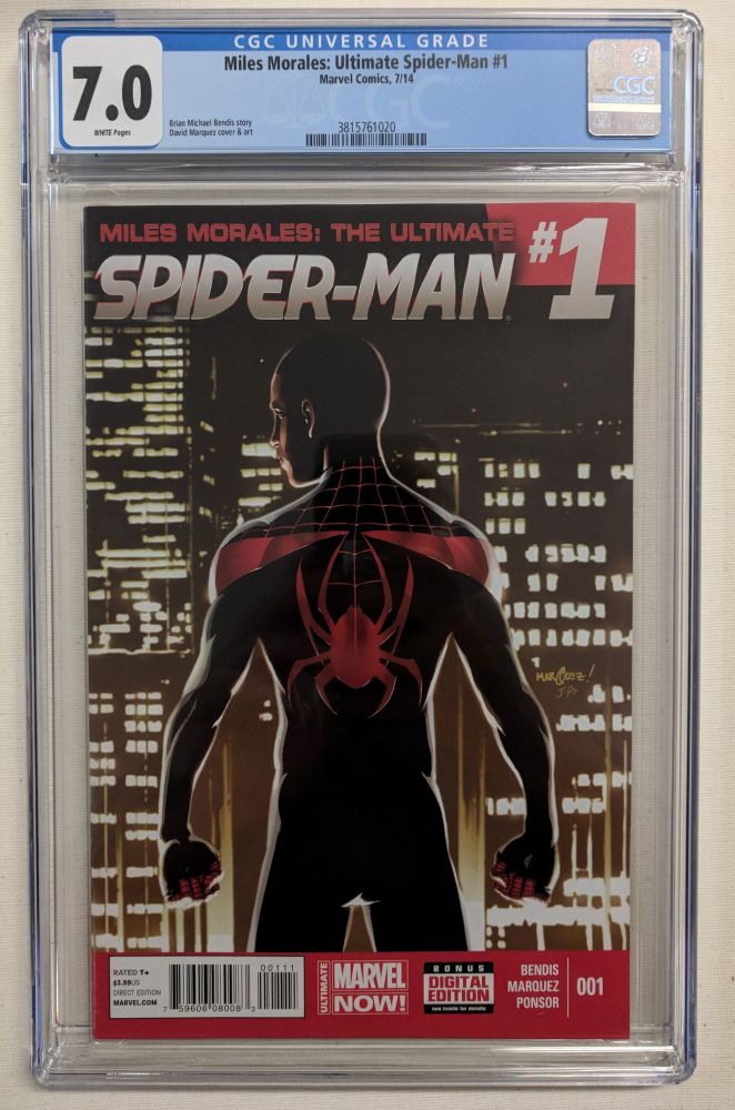 """2014 """"Miles Morales: Ultimate Spider-Man"""" Issue #1 Marvel Comic Book (CGC 7.0) at PristineAuction.com"""