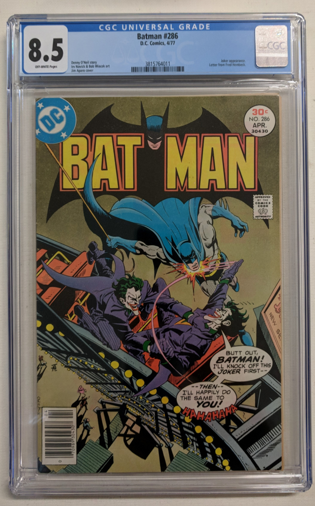 "1977 ""Batman"" Issue #286 DC Comic Book (CGC 8.5) at PristineAuction.com"