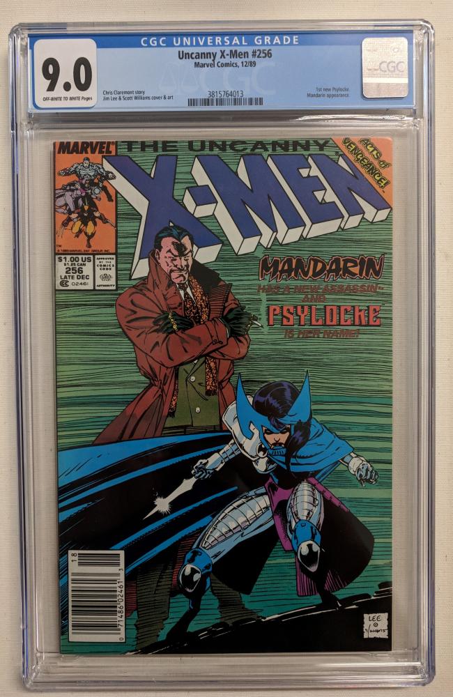 """1989 """"Uncanny X-Men"""" Issue #256 Marvel Comic Book (CGC 9.0) at PristineAuction.com"""