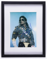 Michael Jackson Signed 12x15 Custom Framed Photo Display (PSA COA) (See Description) at PristineAuction.com