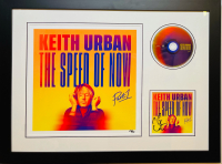 "Kieth Urban Signed LE 19.5x23.5 Custom Framed ""The Speed of Now"" Album Photo Display (JSA COA) at PristineAuction.com"
