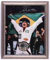 Lyoto Machida Signed UFC 13x16 Custom Framed Photo Display (SI COA) (See Description) at PristineAuction.com