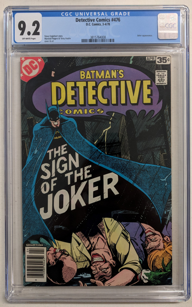 "1978 ""Detective Comics"" Issue #476 DC Comic Book (CGC 9.2) at PristineAuction.com"