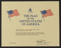 American Flag Flown Over the Capitol on October 16, 2019 (Architect of the Capitol COA) at PristineAuction.com
