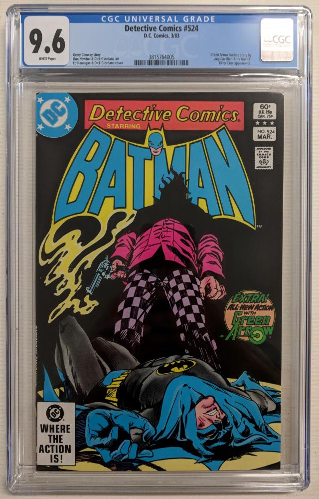 "1983 ""Detective Comics"" Issue #524 DC Comic Book (CGC 9.6) at PristineAuction.com"