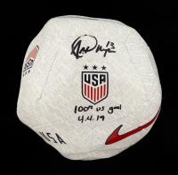 "Alex Morgan Signed Team USA Nike Soccer Ball Inscribed ""100th US Goal 4-4-19"" (Fanatics Hologram) (See Description) at PristineAuction.com"