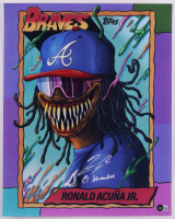 "Ronald Acuna Jr. Signed Braves 16x20 Photo Inscribed ""El Abusador"" (Beckett Hologram) at PristineAuction.com"