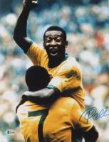 Pele Signed Team Brazil 11x14 Photo (Beckett COA) at PristineAuction.com