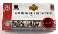 2005 Upper Deck Rookie Premiere Factory Sealed Football Box Set with (30) Cards at PristineAuction.com