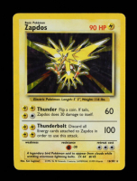 Zapdos 1999 Pokemon Base Unlimited #16 Holo at PristineAuction.com