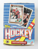 1991-92 Topps Hockey Wax Box of (36) Wax Packs (See Description) at PristineAuction.com