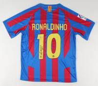 "Ronaldinho Signed FC Barcelona Jersey Inscribed ""R10"" (Beckett COA) at PristineAuction.com"