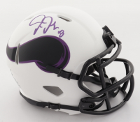 Justin Jefferson Signed Vikings Lunar Eclipse Alternate Speed Mini Helmet (Beckett Hologram) at PristineAuction.com