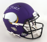 Adam Thielen Signed Vikings Full-Size Authentic On-Field Speed Helmet (Beckett Hologram) (See Description) at PristineAuction.com