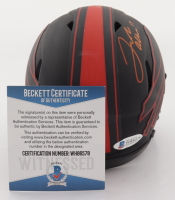 Josh Allen Signed Bills Eclipse Alternate Speed Mini-Helmet (Beckett COA) at PristineAuction.com