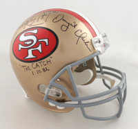 """Dwight Clark Signed 49ers Full-Size Helmet Inscribed """"The Catch"""" & """"1-10-82"""" with Hand-Drawn Play (PSA Hologram) (See Description) at PristineAuction.com"""