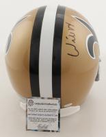 """Willie Roaf Signed Saints Full-Size Helmet Inscribed """"HOF 2012"""" (Schwartz Sports COA) at PristineAuction.com"""