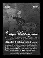 George Wahsington 2020 A Word From POTUS / Presidential Archive Relics #PAGW at PristineAuction.com