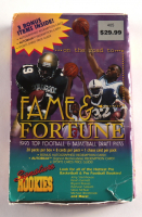 1995 Signature Rookies Fame & Fortune Football & Basketball Box of (20) Packs at PristineAuction.com