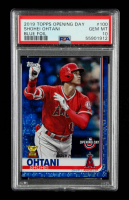 Shohei Ohtani 2019 Topps Opening Day Blue Foil #100 (PSA 10) at PristineAuction.com