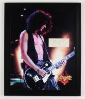 Joe Perry Signed Aerosmith 18x22 Custom Framed Cut Display (AutographCOA COA) (See Description) at PristineAuction.com