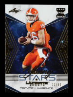 Trevor Lawrence 2021 Leaf Ultimate Sports Young Stars Gold #YS14 #11/50 at PristineAuction.com