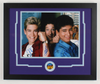 "Mark-Paul Gosselaar, Mario Lopez & Dustin Diamond Signed ""Saved by the Bell"" 18x22 Custom Framed Photo Display (JSA COA) (See Description) at PristineAuction.com"
