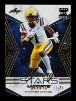 Ja'Marr Chase 2021 Leaf Ultimate Sports Young Stars Gold #YS16 #11/50 at PristineAuction.com
