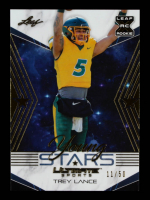 Trey Lance 2021 Leaf Ultimate Sports Young Stars Gold #YS18 #11/50 at PristineAuction.com