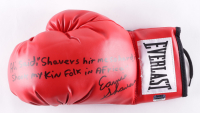 Ernie Shavers Signed Everlast Boxing Glove with Inscription (Fiterman Sports Hologram) at PristineAuction.com
