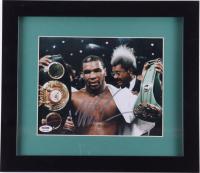 Mike Tyson Signed 13x15 Custom Framed Photo Display (PSA COA) at PristineAuction.com