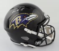 Lamar Jackson Signed Ravens Full-Size Speed Helmet (JSA COA) (See Description) at PristineAuction.com