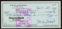Stan Musial Signed Hand-Written 1983 Personal Bank Check (AIV COA) at PristineAuction.com