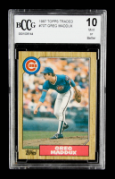 Greg Maddux 1987 Topps Traded #70T RC (BCCG 10) at PristineAuction.com