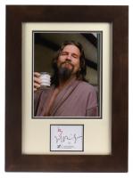 "Jeff Bridges Signed ""The Big Lebowski"" 14x19 Custom Framed Cut Display (JSA COA) at PristineAuction.com"