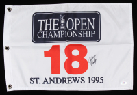John Daly Signed St. Andrews 1995 The Open Championship Golf Pin Flag (PSA COA) (See Description) at PristineAuction.com