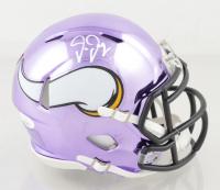 Justin Jefferson Signed Vikings Chrome Speed Mini Helmet (JSA COA) at PristineAuction.com