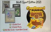 2021 Cardboard Treasure Multi-Sport Mystery Box, Series 1 at PristineAuction.com