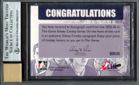 Sidney Crosby Signed 2005-06 ITG Sidney Crosby Series Autographs #SCA23 (BGS Encapsulated - Graded 9) at PristineAuction.com
