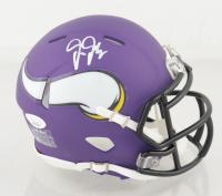 Justin Jefferson Signed Vikings Matte Purple Speed Mini Helmet (JSA COA) at PristineAuction.com