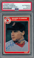 Roger Clemens Signed 1985 Fleer #155 RC (PSA Encapsulated) at PristineAuction.com