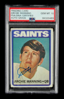 Archie Manning Signed 1972 Topps #55 RC (PSA Encapsulated) at PristineAuction.com