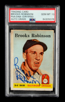 Brooks Robinson Signed 1958 Topps #307 (PSA Encapsulated) at PristineAuction.com