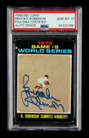Brooks Robinson Signed 1971 Topps #331 World Series Game 5 (PSA Encapsulated) at PristineAuction.com