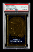 Brooks Robinson Signed 1965 Topps Embossed #16 (PSA Encapsulated) at PristineAuction.com
