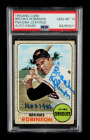 """Brooks Robinson Signed 1968 Topps #20 Inscribed """"HOF 1983"""" (PSA Encapsulated) at PristineAuction.com"""